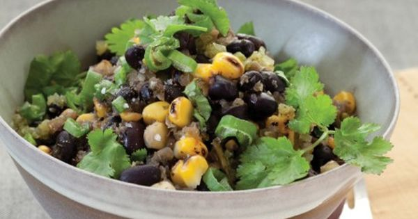 Black Bean Chili with Fire-Roasted Corn | Black Bean Chili, Bean Chili ...
