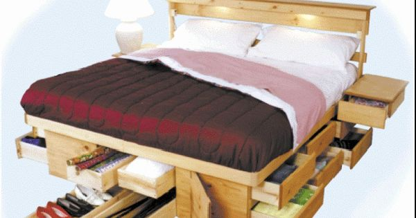 Una cama funcional multicajones dormitorios pinterest - Camas para espacios pequenos ...