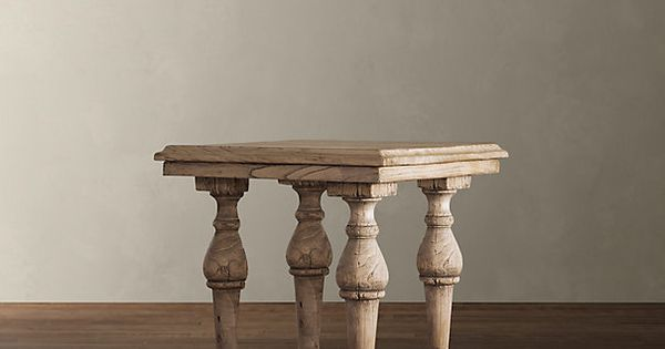 Restoration hardware english balustrade table living room inspiration pinterest side - Restoration hardware entry table ...