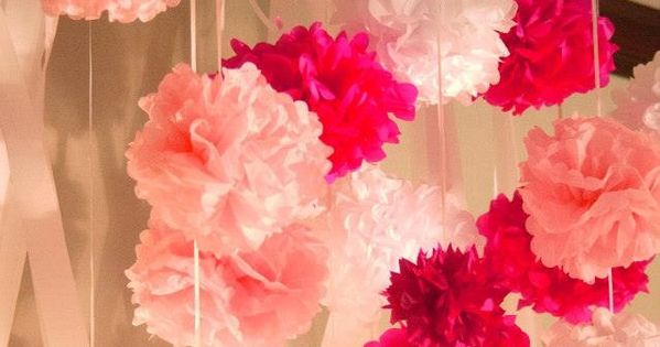 Pink Flowers - 27 Super Cute Baby Shower Decorations to Make Your