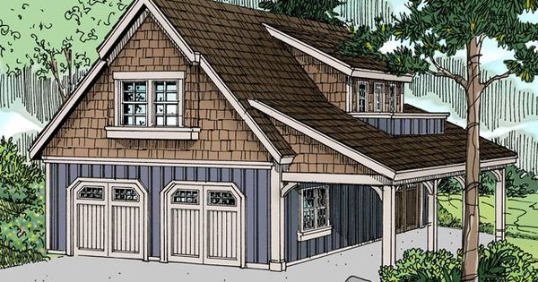 Plan 13 060 just garage plans 855 sq ft double bay for Just garage plans