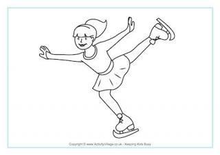 Winter Olympics Printables And Activities For Kids Kolorowanki