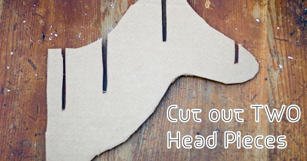 Cardboard taxidermy deer head printable patterns for Free cardboard taxidermy templates
