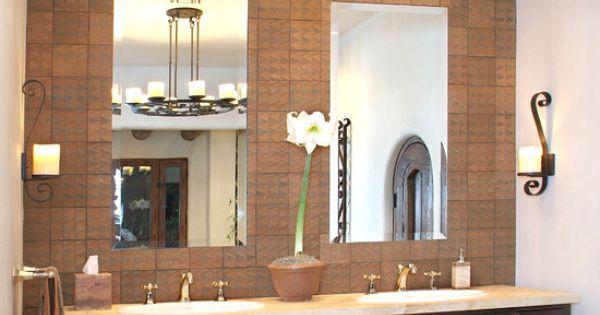 Santa fe style master bath mexican style pinterest for Santa fe style bathroom ideas