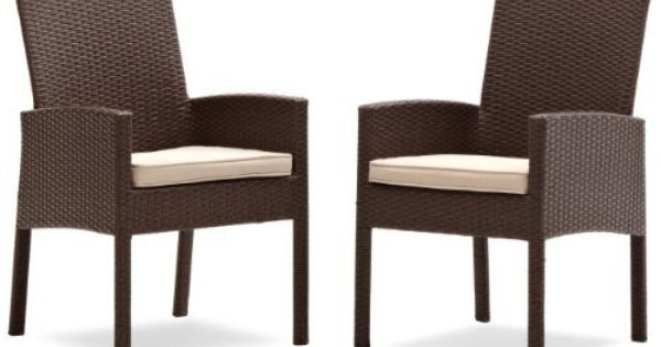Strathwood Griffen All Weather Wicker Dining Arm Chair