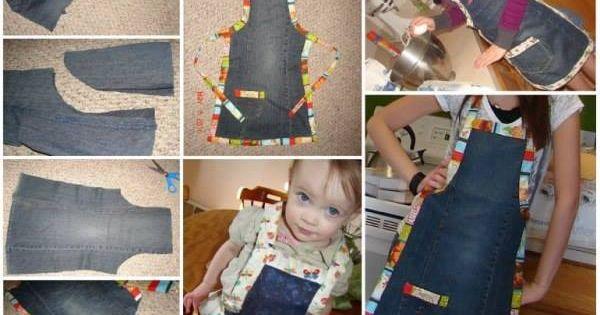 R alisez un joli tablier de cuisine en jean mes for Anthropologie cuisine couture apron