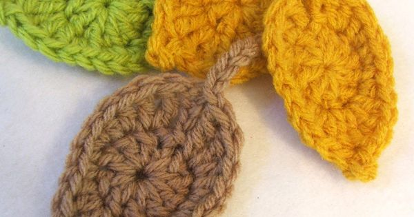Crochet Patterns Etc : ... Pattern - The Leaves are Falling Soon! Crochet-- Flowers, etc