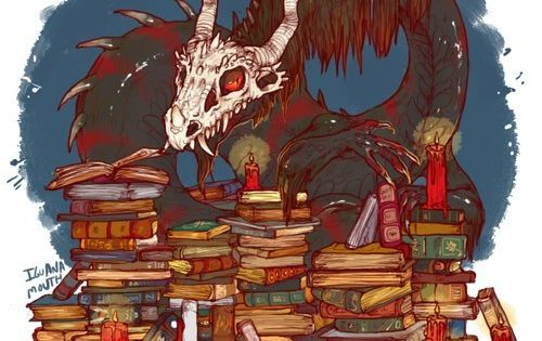 Uncommon Dragon Hoards - Hoard of books By Iguana Mouth