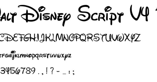 Walt Disney Script V4 1 Font Other Free Fonts Fonts