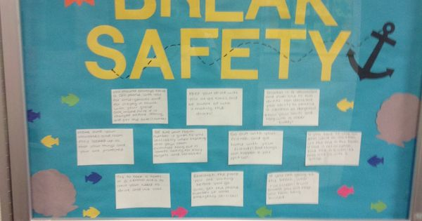 Spring Break Safety Bulletin Board Dec Your Hall