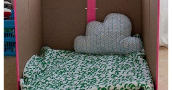 DIY recycled box house for kids, Haus aus Pappe für Kinder, Papphaus