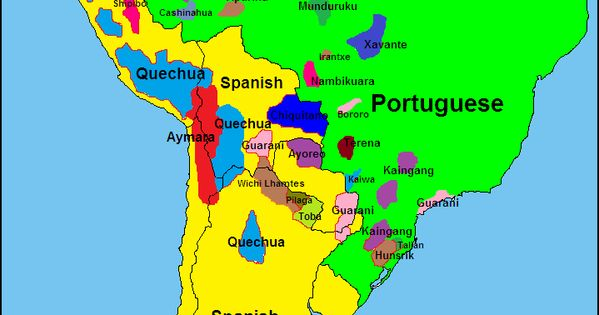 Languages of South America / Les langues de l'#Amérique du Sud