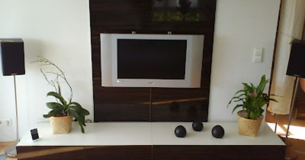 Ikea Hackers Clever Ideas And Hacks For Your Ikea My Home Design Tv Wall Flat Tv