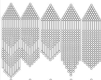 Popular Items For Graph Paper On Etsy Seed Bead Patterns Beaded