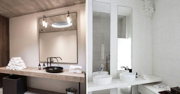 Decofilia blog dise o de ba os con lavabos sobre - Banos con encimera ...