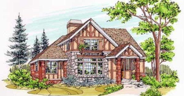 Storybook Cottage Home Plans Corner Lot Narrow
