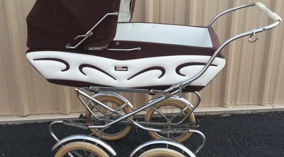 sale vintage perego pram baby carriage stroller made by. Black Bedroom Furniture Sets. Home Design Ideas