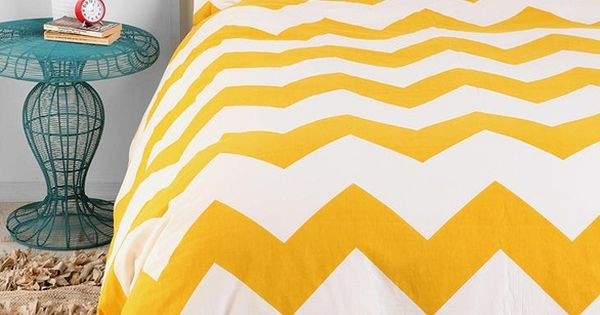 This golden yellow color is amazing! Who can resist chevron stripes! |