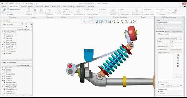 Ptc Creo Pro E Simple Model Of Suspension Dynamics Analysis Youtube E Simple Simple Analysis