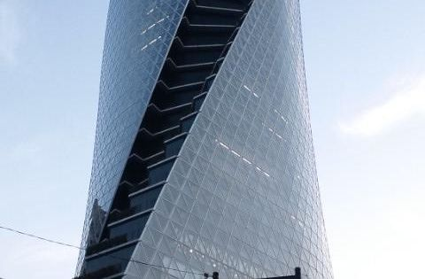Mode Gakuen Spiral Tower in Nagoya, Japan. Designed by Nikken Sekkei (Tokyo).