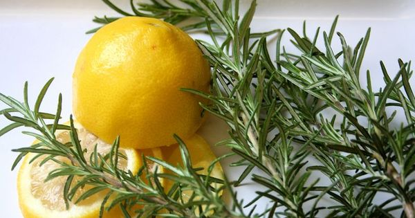 Lemon and Rosemary = Fresh, clean, inspiration...