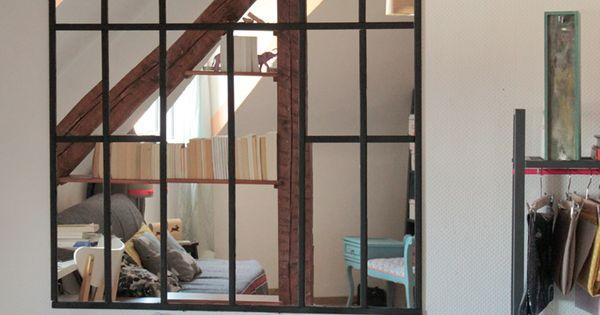 ellybeth une verri re en miroir bricolage pinterest verri re miroirs et miroir verriere. Black Bedroom Furniture Sets. Home Design Ideas