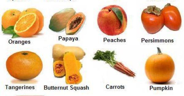 Orange Vegetables And Fruits FRUTAS Y VERDURAS DE C...