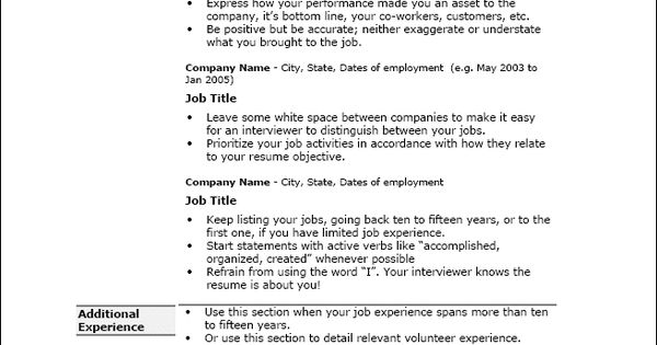 targeted resume template 2015