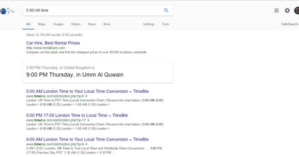 Thanks google i was looking for some car deals Funny Pictures - Time Conversion Chart