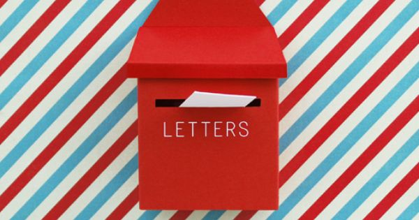 DIY mini post box + mail on Behance