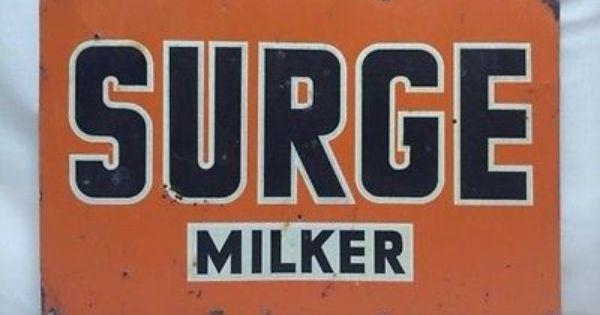 1940s Tractor Repair Signs : Vintage s surge equipment dairy milk farm milker