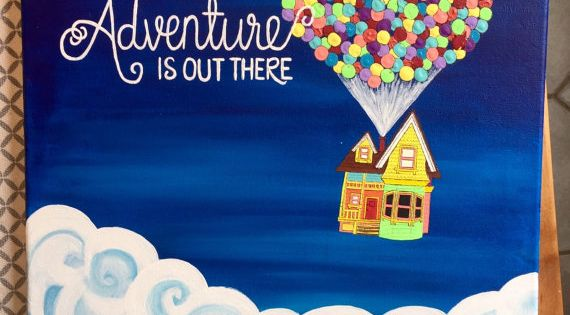 Adventure is Out There Pixar's Up Painting by DaisyDesign3 ... Up House Pixar Drawing