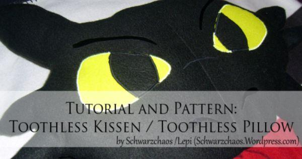 Toothless Kissen Schnittmuster Kuscheltier Kissen Selbermachen