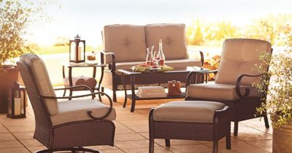 Sonoma Outdoors Cambria Wicker Collection Patio Furniture Collection Furniture Collection Outdoor Furniture Sets