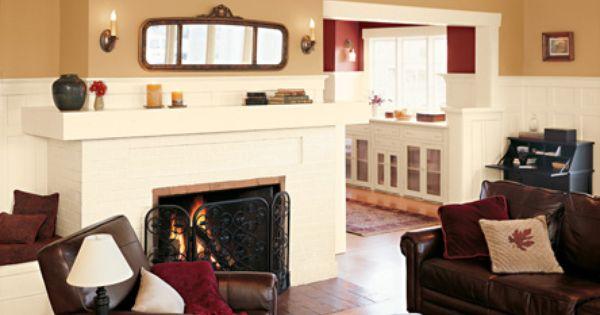 Shown In Valspar Eddie Bauer Bungalow Gold Craft White And Crimson Paint Colors Pinterest