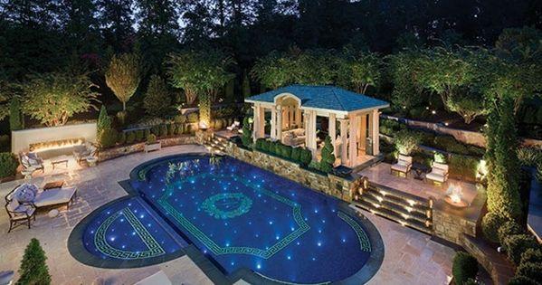 luxus pool ganz gute idee für einen luxus pool im kleinen garten, Terrassen ideen