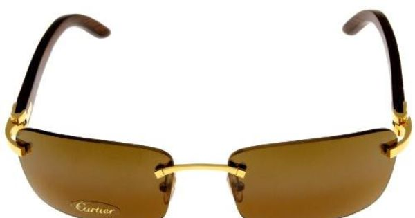 405ec877a9b5 Cartier Wood Rimless Sunglasses