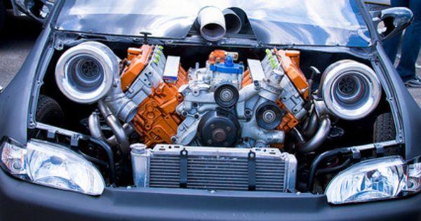 6.0 Powerstroke Twin Turbo Honda Bad ass civic DieHard Honda Civic Enthusiast?