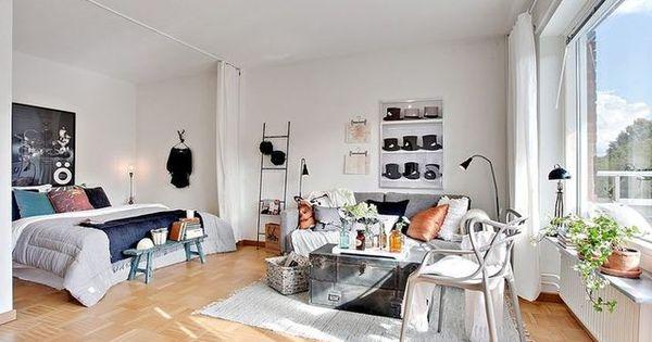 Studio tudiant 12 id es d co pour petit appartement tables studios et inspiration - Deco kleine studio ...