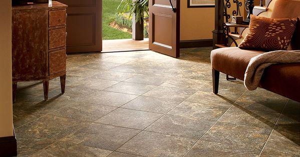 Armstrong Luxury Vinyl Tile Lvt Brown Stone Look Entryway Ideas Luxury Vinyl Flooring