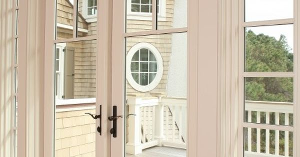 Replace your old sliding doors with french doors add for Home hardware french doors