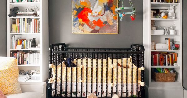 Gorgeous boy's nursery design with gray walls paint color, This room can