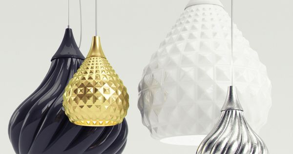 ceramic pendant lamps ruskii and ruskii twist by designer enrico zanolla for