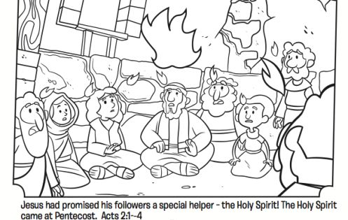 coloring page from what s in the bible showing the