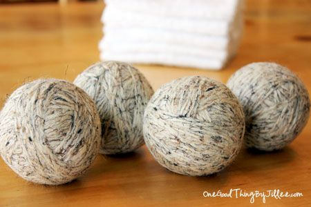 Make felted wool dryer balls. They speed up drying time, act as