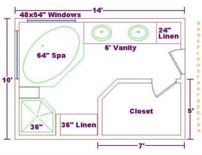 Bathroom Design Floor Plans On Free 10x14 Master Bath
