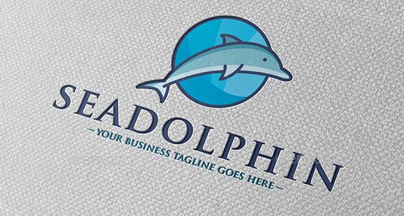 Sea Dolphin Logo Template – Animals Logo Templates