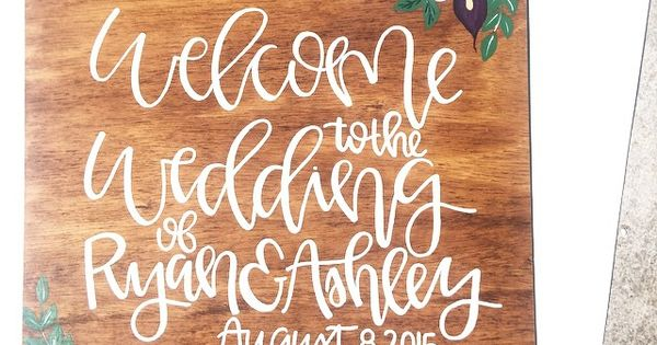 Wedding welcome sign to the of clink
