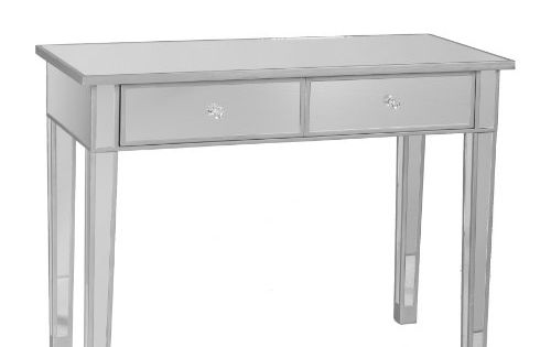 Sei Mirage Mirrored 2 Drawer Console Table Southern
