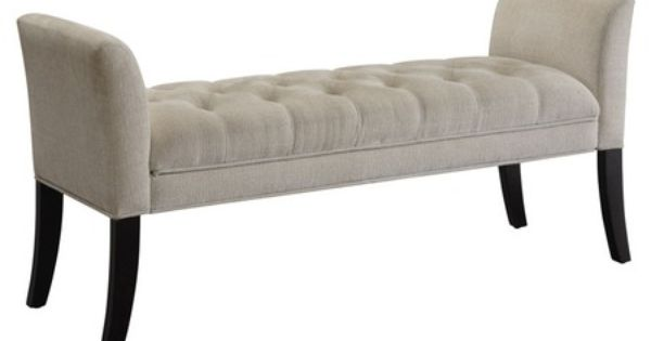 Stewart Microfiber Upholstered Bench - modern - bedroom benches - Hayneedle